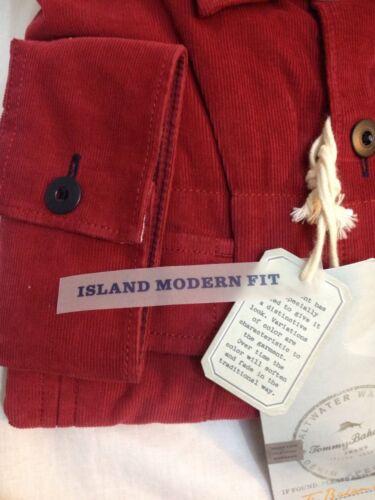Tommy Bahama Island Modern Fit Brave New Corduroy XLX Cardinal Red NWT #567