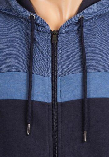 NUOVA Linea Uomo Con Cerniera Caldo Felpa Con Cappuccio Pullover Maglione Top EX UK Catene Taglia S-XXXL