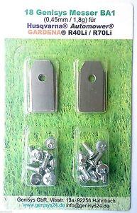 messer ersatzmesser mit schrauben m hroboter gardena r40li r45li r70li 18 st ebay. Black Bedroom Furniture Sets. Home Design Ideas