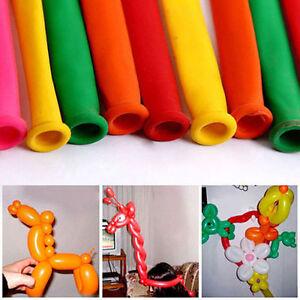 200 Mixed Color Magic Balloon Party Decoration Animal Making Long Balloons EL