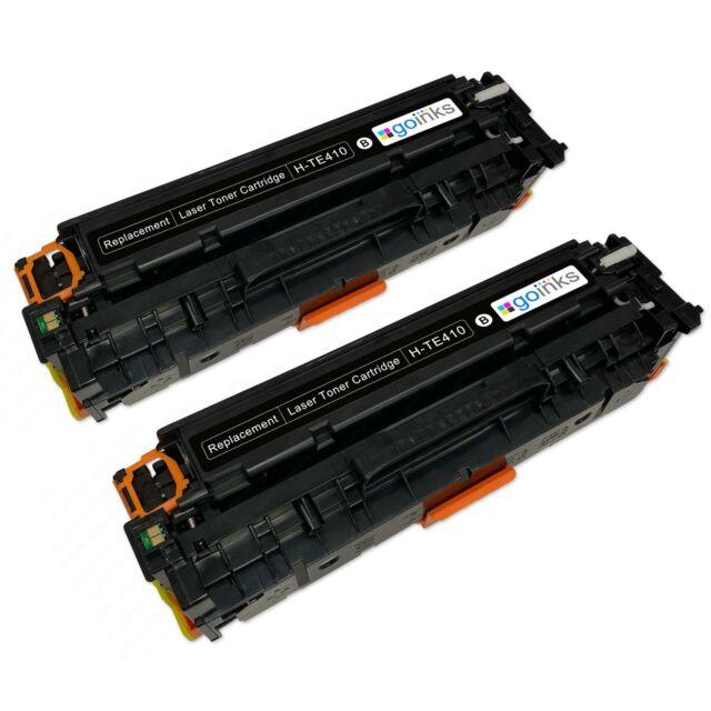 2 Negro XL Cartuchos de tóner para HP LaserJet Pro 400 Color M451dn & M451dw