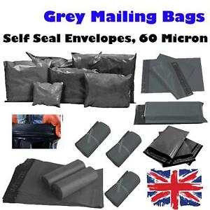 17x24-039-039-Grey-Mailing-Bags-Strong-Parcel-Postage-Plastic-Post-Poly-Self-Seal