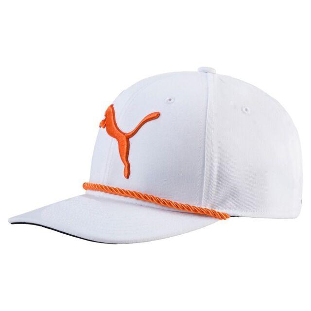PUMA  gotime Rope Snapback Golf Hat Bright White-vibrant Orange for ... d8ff6f2d9d8b