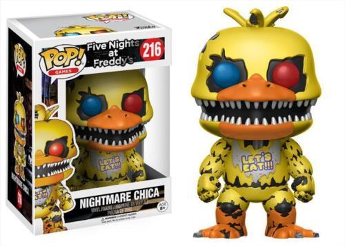 111 Nightmare Chica Games Funko POP Videogiochi Five Nights At Freddy/'s