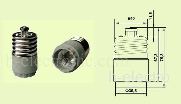 5 stück Adapter E40 auf E27L Sockel Verlängerung LED F1 Fassung Adaptor