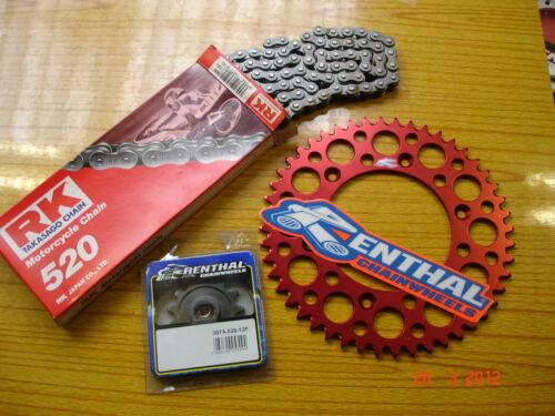 New 49 T RK Chain Red Renthal Sprocket Kit Honda CRF 250 R X 04-19