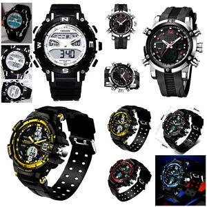 fa4c8ec11247 BIG Sport Army Analog & Digital Alarm Date Wrist watch Ohsen,Weide ...