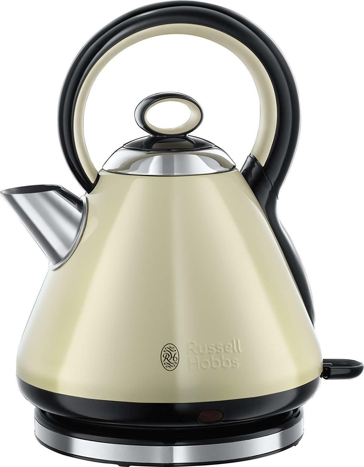 Russell Hobbs 21888 Legacy Quiet Boil Kettle, 3000 W, 1.7 Litre, Cream  NEW