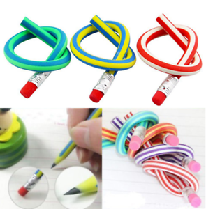 50Pcs-Magic-Bendy-Flexible-Soft-Pencil-W-Eraser-Student-Rubber-Lead-Pencils-AU