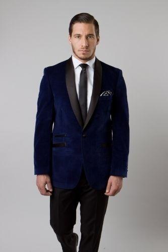 Luxury Velvet Blazer Satin Shawl Colar  1 Button Single Solid Jacket  Slim Fit