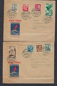 1948 Allemagne/wurttemburg Scott 8n12-8n13 & Autres Sur 2 Couvre Reutlingen à N.j.-mburg Scott 8n12-8n13 & Others On 2 Covers Reutlingen To N.j.fr-fr Afficher Le Titre D'origine Artisanat Exquis;