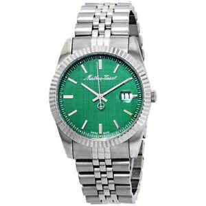 Mathey-Tissot-Mathey-III-Quartz-Green-Dial-Men-039-s-Watch-H810AV