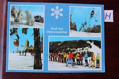 Realistisch Postkarte Ansichtskarte Sachsen Gruß Aus Oberwiesenthal