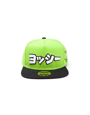 OFFICIAL NINTENDO'S SUPER MARIO BROS - YOSHI JAPANESE GREEN SNAPBACK CAP (NEW)