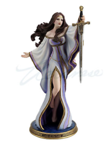 Lady-of-the-Lake-Fantasy-Woman-with-Sword-Statue-Figurine-by-James-Ryman