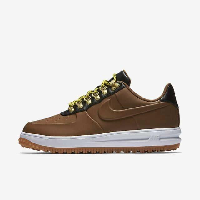 outlet store ef68b 8f3f4 Nike LF1 Duckboot Low AA1125-200 Ale Brown Black White Men s Air Force 1  Shoes