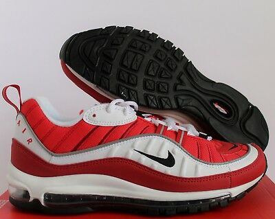 Nike Women Air Max 98 White-gym Red-black Sz 11 // Mens Sz 9.5 Unisex Adult Shoes ah6799-101 Clothing, Shoes & Accessories