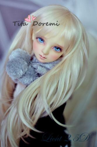 Bjd Wig 1//3 8-9 DD DAL PULLIP DZ AOD SD Luts Dollfie Doll Toy Head Blonde Hair