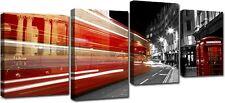 Quadro Moderno Stampa su Tela Cm 140x75 4 Pezzi Arredo Arte Londra Casa Design