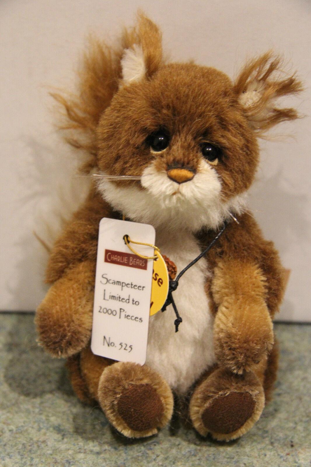Charlie Bears - scampeteer Eichhörnchen - Minimo - NEU mit Etikett
