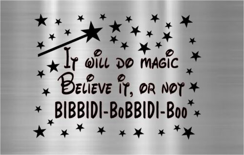 Cinderella Decal Vinyl Sticker Instant Pot Bibbidi Bobbidi Boo It will do magic