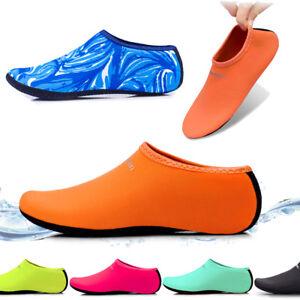 659eacc107e7 Unisex Barefoot Water Skin Shoes Aqua Socks for Beach Swim Surf Yoga ...