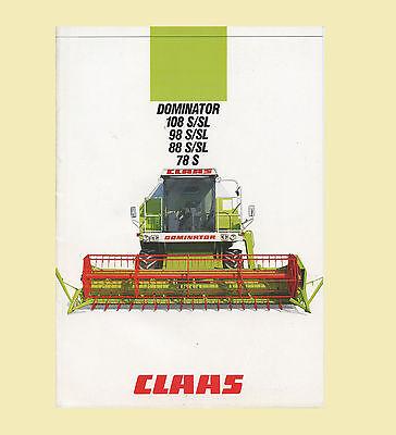 CLAAS Dominator 78  88 98 108 S//SL  Mähdrescher  Original 1987