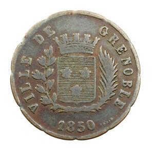 Jeton-de-Necessite-Soupe-Grenoble-1850-Zinc