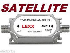 SATELLITE INLINE AMPLIFIER SIGNAL BOOSTER DISH NETWORK ANTENNA AMP DIRECTV FTA