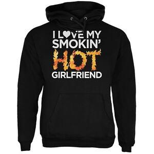 Valentine's Lgbt Love Hot Day Smokin Hoodie Adult Black I Girlfriend My TqTrP