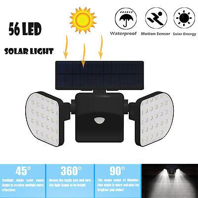 56 LED Solarlampe Solarleuchte Außen Solarstrahler Mit Bewegungsmelder Licht