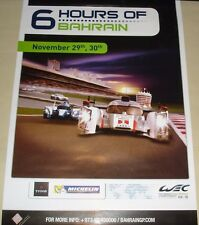 Le Mans FIA WEC World Endurance 6 Hours Bahrain 2012 Rare Official Event Poster