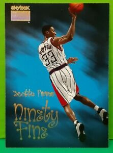 Scottie Pippen subset card Ninety Fine 1998-99 Skybox Premium #220