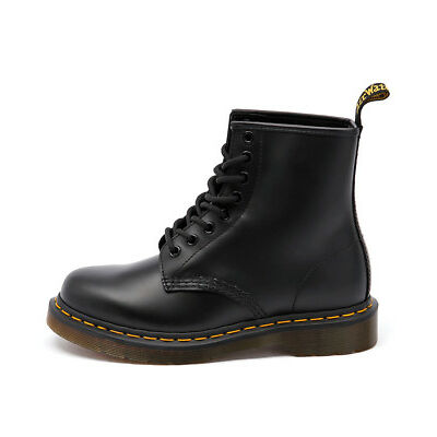 New Dr. Martens 1460 8 Eye Boot Black Smooth Women Shoes Boots Ankle Boots