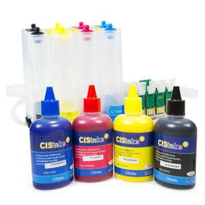 Details about Empty CISS w Pigment Ink Bottle Set for Epson Workforce  WF-2750 WF-2760 CISS R2