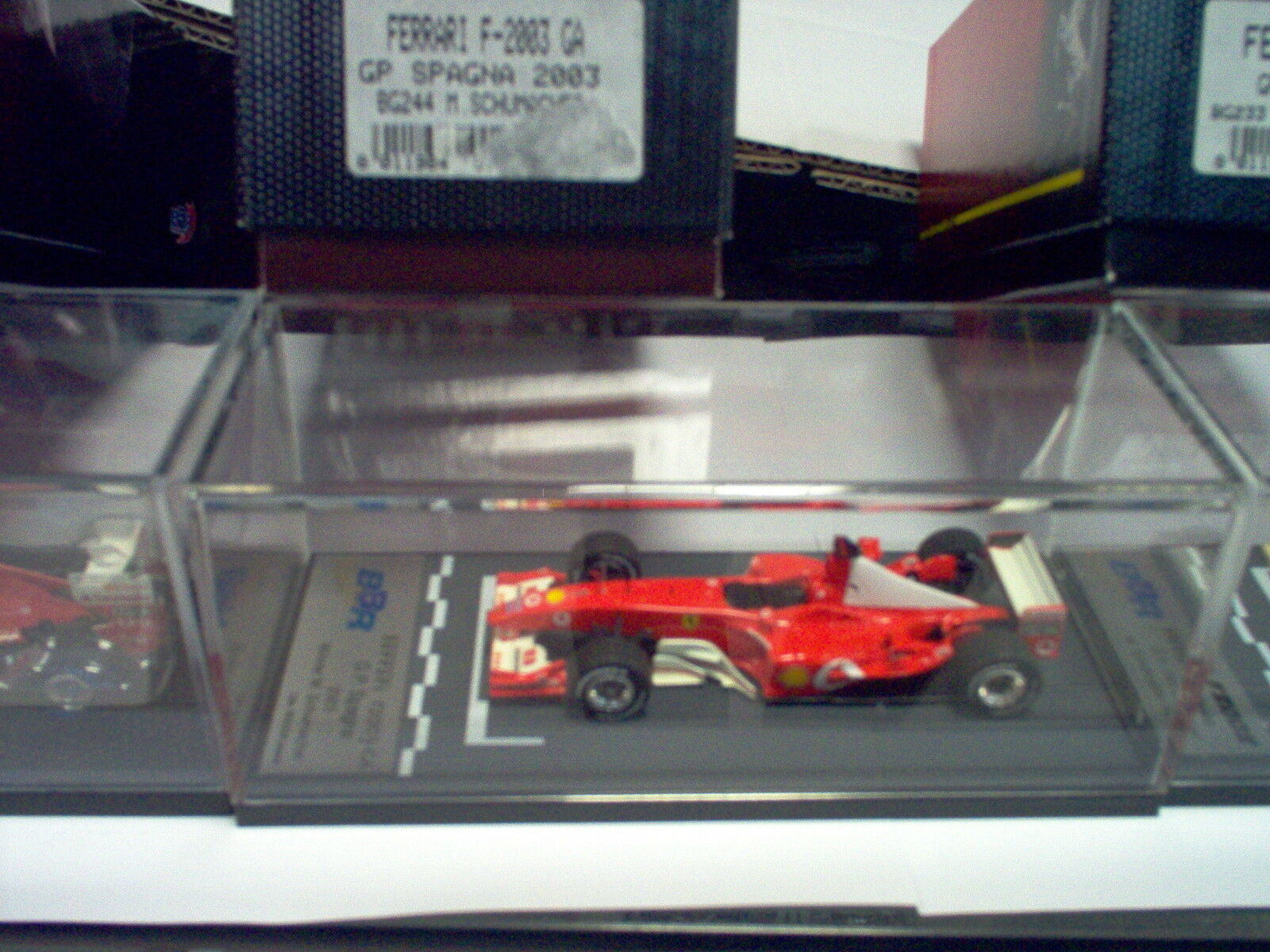 Ferrari F2003GA GP Spagna 2003  M.Schumacher  1/43 BG244 BBRMODELS Made in Italy