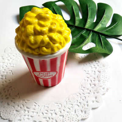 Great Cartoon Jumbo Colossal Squishy Popcorn Scented Super Slow Rising Food Toys