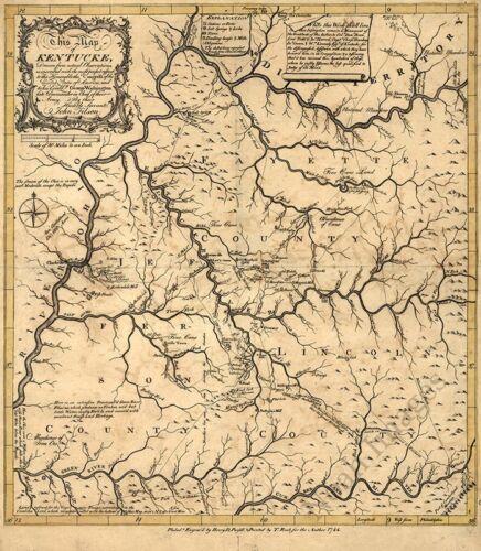 Map of Kentucky c1784 24x24