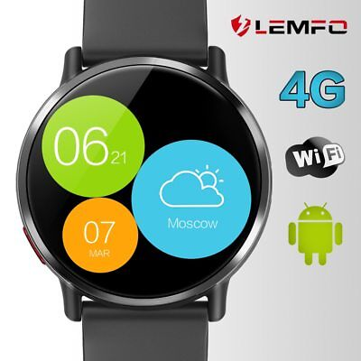 LEMFO Bluetooth LEMX Smart Watch Phone 4G 8MP Camera 1+16GB GPS For Android iOS