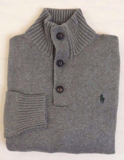 d4f54fae5 Polo Ralph Lauren 1 2 Button Pony Mockneck Pullover Sweater Ski Jumper M L  XL