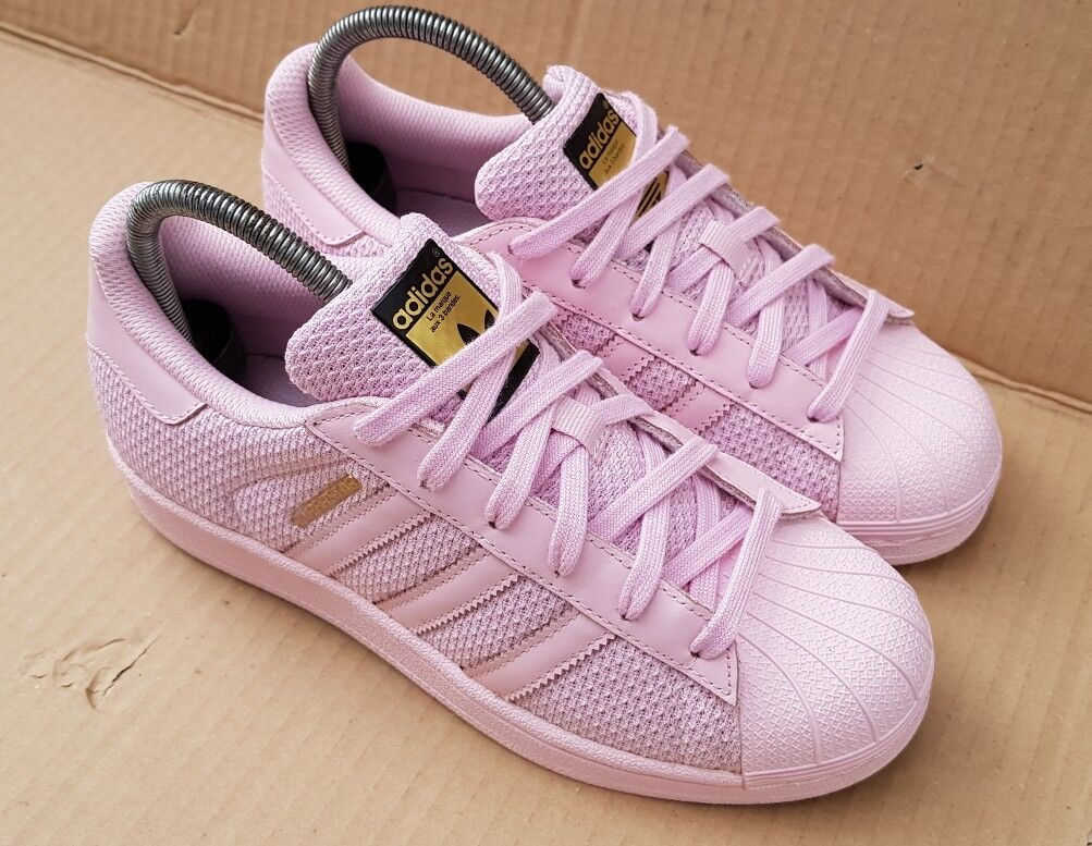ADIDAS SUPERSTAR BABY rose WEAVE SIZE SIZE WEAVE 3.5GOLD LOGO EXCELLENT CONDITION 023838