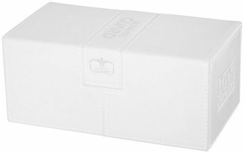 White Ultimate Guard GAMING SUPPLY NEW Twin Flip/'n/'Tray 200 XenoSkin Deck Box