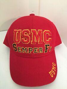 USMC-SEMPER-FI-Cap-Hat-United-States-MARINE-CORPS-K-amp-S-Unique-Officially-Licensed