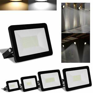 10-100-Watt-LED-Fluter-230V-Floodlight-Aussenleuchte-IP65-Garten-Fassadenstrahler