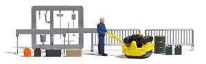 Busch-Ho-7805-Action-Set-Road-Roller-Finshed-Model-New-Original-Packaging