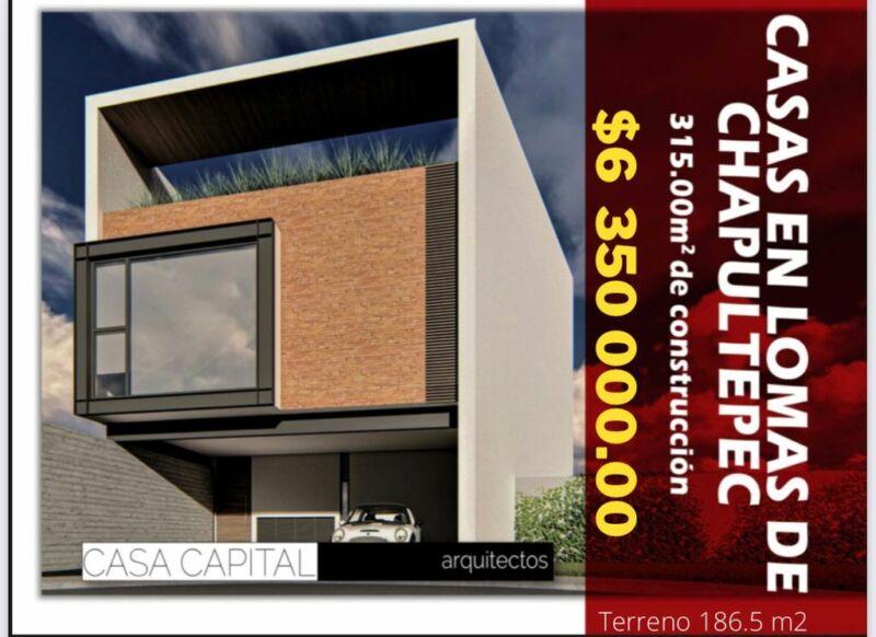 Hermosa casa en preventa en Lomas de Chapultepec