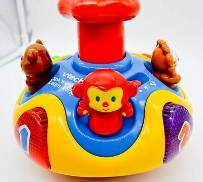 ~ VTECH ~ SPIN 'N LEARN TOP ~ Learning Teaching Toy ...