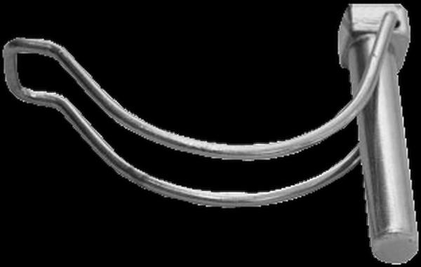 weiß verzinkt 100er 8x50mm Rohrklappstecker Standard