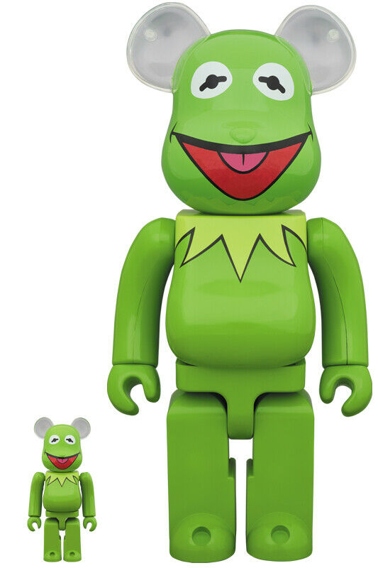 BE@RBRICK Kermit The Frog 100% & 400% 400% The Muppets project 1 6 Medicom toy Japan