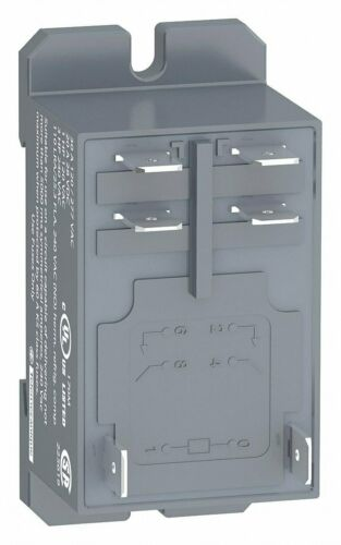DPST-NO SCHNEIDER ELECTRIC RPF2ABD Enclosed Power Relay 24VDC 6 Pin